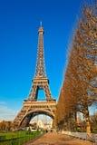 Wieża Eifla przy wschodem słońca, Paryż. Zdjęcia Stock