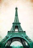 Wieża Eifla - retro pocztówka projektująca Zdjęcie Royalty Free