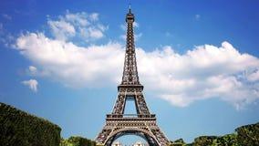 Wieża Eifla, symbol Paryski Francja zdjęcie wideo