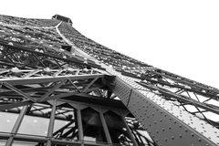 Wieża Eifla wewnątrz zdjęcie stock