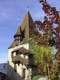 Wieża obserwacyjna w starym mieście Sighisoara Zdjęcia Stock