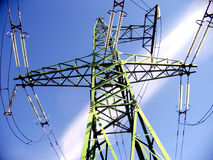 wieża prądem przewód obrazy stock