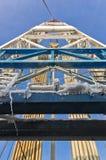 Wieża wiertnicza - zamknięty widok Zdjęcia Royalty Free