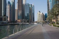 Wieżowowie które dominują Dubaj Marina Zdjęcie Royalty Free