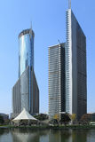 Wieżowowie Shanghai Pudong lujiazui Zdjęcia Royalty Free