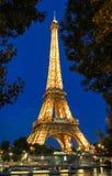 Wieży Eifla wycieczka turysyczna Eiffel iluminujący przy nocą, Paryż, Francja Fotografia Royalty Free