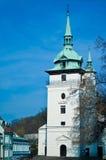 wieży kościoła white Zdjęcia Royalty Free