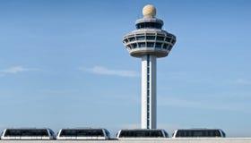 wieży kontrolnej lotniczy ruch drogowy Obraz Stock