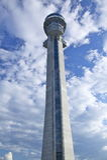 wieży kontrolnej lotniskowy ruch drogowy Fotografia Stock