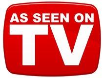 Wie auf Fernsehapparat gesehen Stockbilder