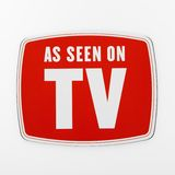 Wie auf Fernsehapparat gesehen. Stockfotos