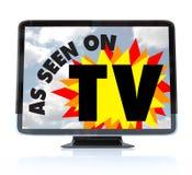 Wie auf Fernsehapparat gesehen - hohe Definitions-Fernsehen HDTV Stockbilder
