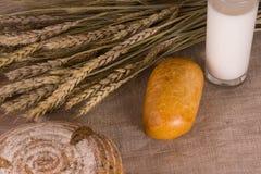 Wieś - chleb z mlekiem Zdjęcie Royalty Free