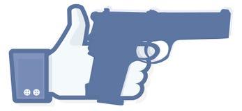 Wie Daumen mit Revolver Lizenzfreies Stockbild