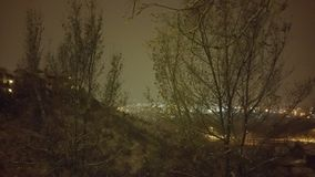 Wie der Schnee fällt Stockfotos