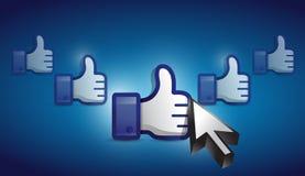 Wie die Hand vorgewählt auf einem blauen binären Hintergrund Lizenzfreie Stockfotografie