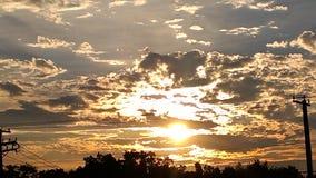 Wie die Himmel-Änderung Stockbild