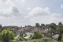 Wieś Domowi dachy Zdjęcia Royalty Free