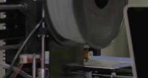 Wie Drucker der Arbeiten 3D stock video