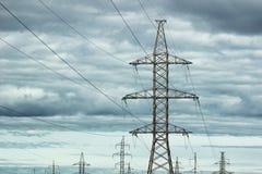 wieże elektryczne Zdjęcie Stock