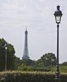 Wieża Eifla od louvre Zdjęcia Royalty Free