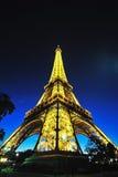 Wieża Eifla przy noc obraz royalty free