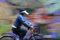 Wie eine Malerei zu ridea Fahrrad Stockfoto
