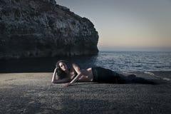 Wie eine Meerjungfrau Stockfotos