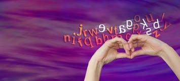 Wie eine Person mit Dyslexie Buchstaben sieht Stockbild