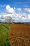 Wieś i chmury Zdjęcie Royalty Free