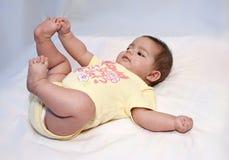Wie ich meine Zehen liebe Lizenzfreies Stockfoto