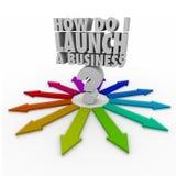 Wie ich tue, starten Sie einen Unternehmer Geschäft New Company Lizenzfreie Stockfotos