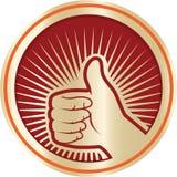 Wie Ikone Daumen herauf Symbol Kreis-Ikone Lizenzfreies Stockfoto