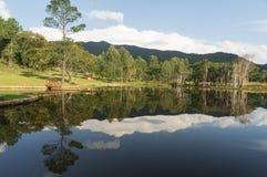 Wieś jezioro Zdjęcia Royalty Free