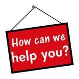 Wie können Sie, helfen wir Ihnen zu kennzeichnen Stockbilder