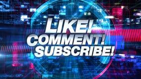 Wie Kommentar unterzeichnen Sie - Sendung Fernsehanimations-grafischen Titel lizenzfreie abbildung