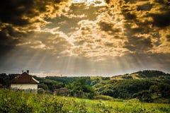 Wieś krajobraz Obraz Stock