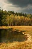 wieś lasów jeziora Obrazy Royalty Free