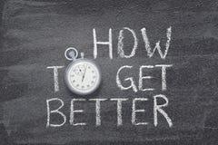 Wie man bessere Uhr erhält stockfotos