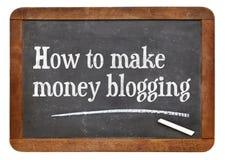 Wie man das blogging Geld verdient Lizenzfreies Stockfoto