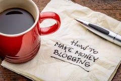 Wie man das blogging Geld verdient Lizenzfreie Stockfotografie