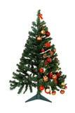 Wie man einen Weihnachtsbaum verziert Stockfotografie