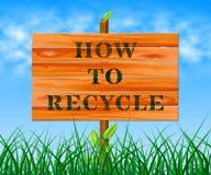 Wie man freundliche Illustration 3d Durchschnitte Eco aufbereitet Stockbild