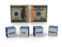 Wie man Geld verdient Lizenzfreies Stockfoto