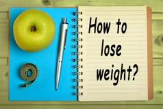 Wie man Gewicht verliert? Lizenzfreie Stockbilder