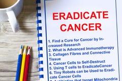 Wie man Krebskonzept ausrottet lizenzfreie stockfotografie