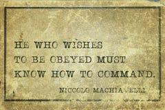 Wie man Machiavelli befiehlt Stockbilder
