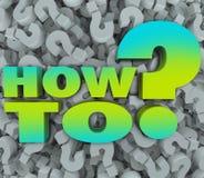 Wie man Mark Background Advice Tips Help fragt Vektor Abbildung