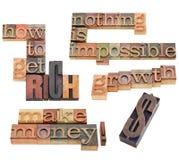 Wie man Reiche erhält und Geld verdient Stockfotografie