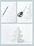 Wie man Weihnachtsbaum bildet stockbild